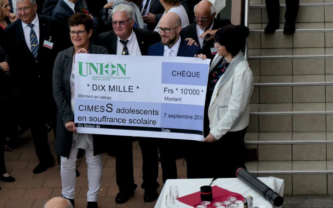 Don de l'Union philantropique de la Côte